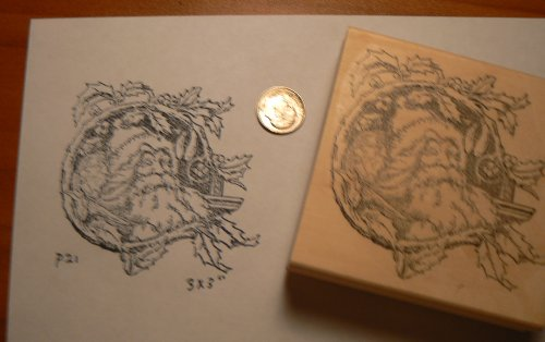 Santa Claus rubber stamp P21