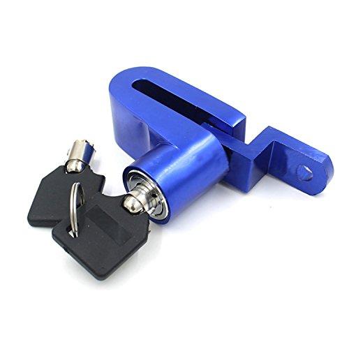logei® Fahrrad Motorrad-Sicherheitsschloss Diebstahlsicherungen Disk-Scheibenbremse Sperre Felgenschloss Lock + Schlüssel, Blau