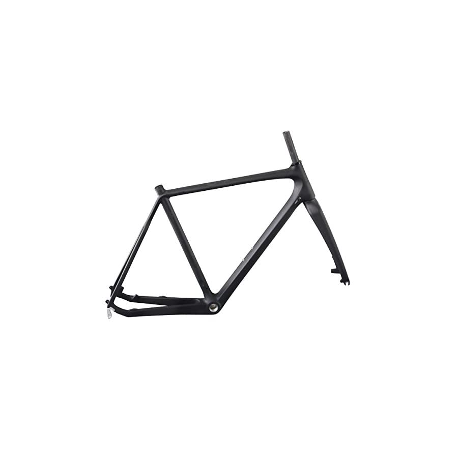ICAN Full Carbon Cyclocross Frame with Carbon Fork Disc Brake BSA for Quick Release Wheels 51/53/55/57cm