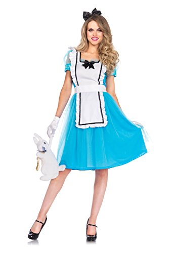 Women's Classic Alice Tea Length Costume (Smurfette Costume For Adults)