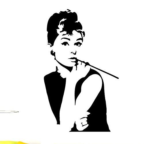 Ambiance Live Wandtattoo Deko Mit Audrey Hepburn