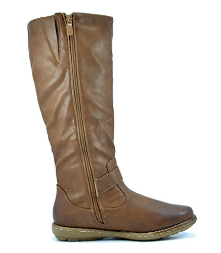 Dream Paare Frauen Faux Pelz gefüttert Kniehohe Winter Stiefel (breit-Kalb erhältlich) Gipfel-Kamel