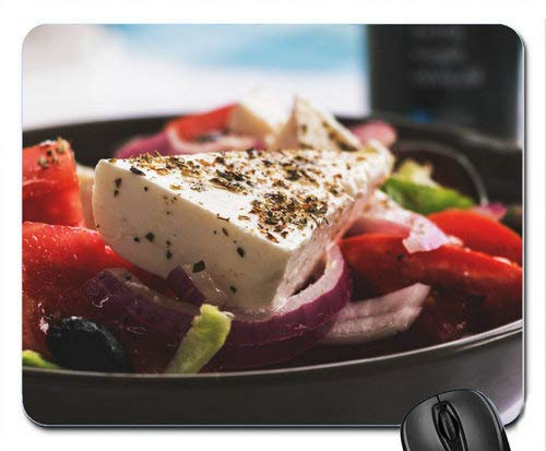Greek Salad with Feta Cheese, Red Peppers & Onions Computer Mousepad Mouse Pad Mouse Mat Matt Pad - Feta Greek Salad