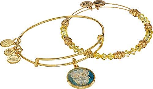 Mexican Set Bracelet - Alex and Ani Women's Art Infusion Set, Calavera Bracelet Gold One Size