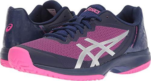 ASICS Women's Gel-Court Speed Blue Print/Pink Glo 8.5 B US