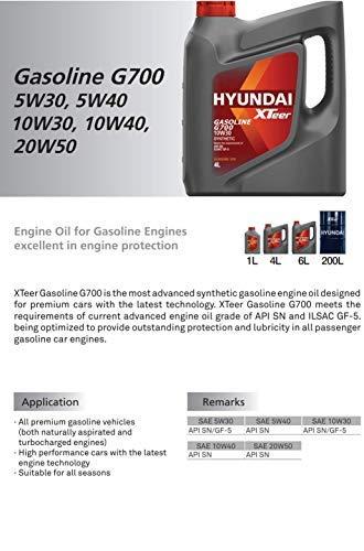 Amazon.com: xteer gasolina G700 10 W40 por Hyundai sintético ...