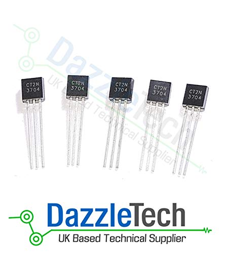 2N3704 Transistor NPN General Purpose 30V TO-92 Pack of 5 3 Pin semiconductor electronic component