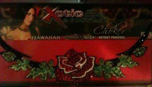 Xotic Eyes Hawaiian Choker Glitter Professional Make up Costume Accessory (Hawaiian Beauty Costume)
