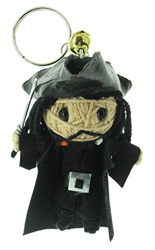 Black Beard Pirates of the Caribbean Voodoo String Doll Keyring Keychain (Voodoo Queen Costume)