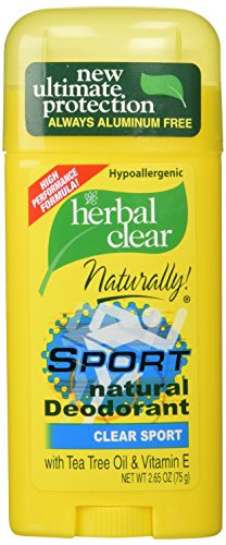 Herbal Clear Deodorant Stick, Sport - 2.65 oz