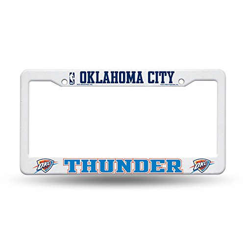 NBA Oklahoma City Thunder Plastic License Plate Frame - White