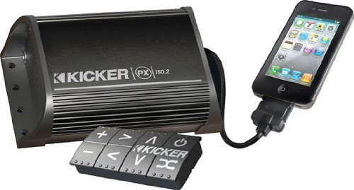 - Kicker 11PXI50.2 50W 2 Channel Car/ATV/Motorcycle Amplifier iPod/iPhone PXI502