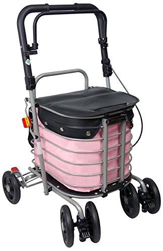 島製作所 ハーモニーAL カバー付 (ピンク) 最大使用者体重 80kgs シルバーカーシリーズ B01EWFBBPQ ピンク ピンク