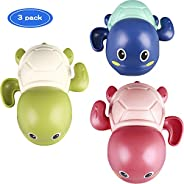 TOHIBEE Baby Toys Wind up Turtle Bathtub Toys Multi-Colors Swimming Bath tub Toy Pool Playset for Boys and Gir