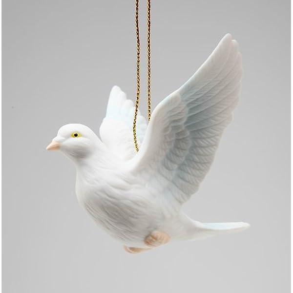 Cosmos Gifts Fine Porcelain White Peace Love Dove Hanging Figurine Ornament 3 1 8 L Home Kitchen Amazon Com