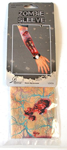 [Zombie Blood Bloody Wounds Tattoo Sleeve Adult NWT] (Zombie Arm Sleeves)