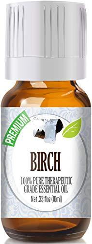 Birch 100% Pure, Best Therapeutic Grade Essential Oil - 10ml (White Birch Essential Oil)