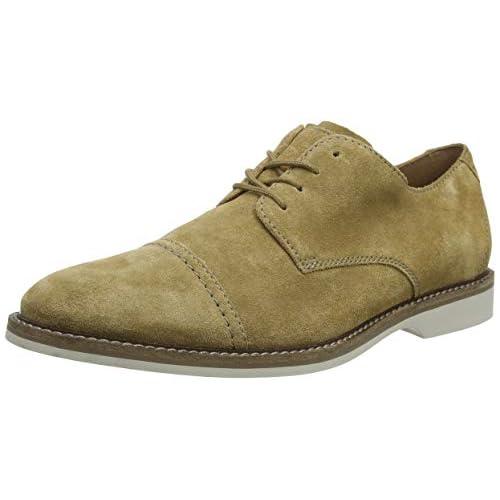 chollos oferta descuentos barato Clarks Atticus Cap Zapatos de Cordones Derby Hombre Beige Dark Sand Suede Dark Sand Suede 40 EU