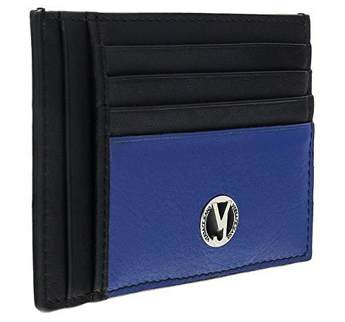 Versace EE3YSBPB4 EMAG Black/Navy Card Holder for Mens