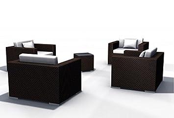 Amazonde Gartenmöbel Rattan Lounge Espace Set 6 4 Sitze Inkl