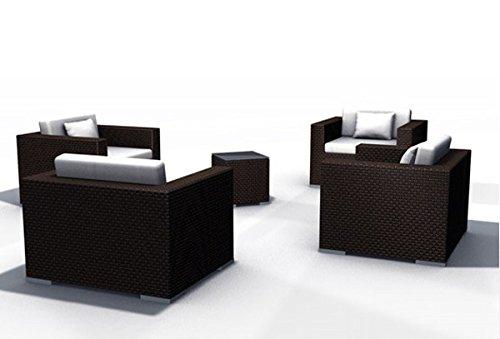Gartenmöbel Rattan Lounge Espace Set 6 - 4 Sitze inkl. Kissen ...