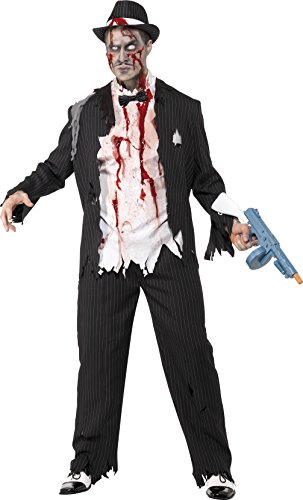 Smiffys Men's Zombie Gangster Costume