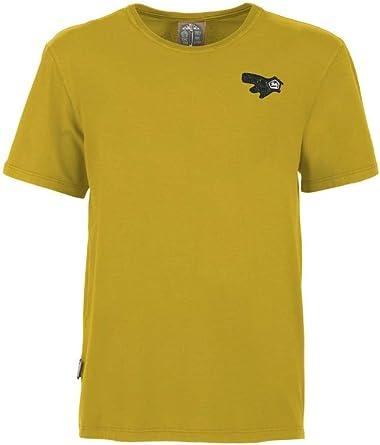 E9 – Camiseta de hombre de algodón con logotipo Onemove1C – Amarillo: Amazon.es: Ropa y accesorios