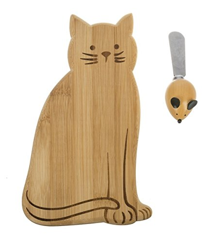 Ganz Cat Cheese Board w/Spreader 2 Piece Set (ER55415)