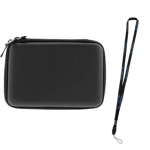 BIRUGEAR Hard Shell Carrying Pouch Case for Western Digital My Passport 500GB, 1TB, 2TB, 3TB - More Portable External Hard Drives and 5inch GPS - Black