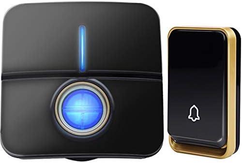 ワイヤレスドアベル自家発電んがバッテリー防水ホーム1ボタン1レシーバーLEDライトを必要としません