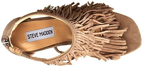 STEVE MADDEN FRINGLY - Sandalias para mujer Taupe