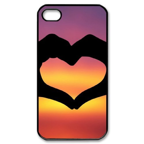 SYYCH Phone case Of Fashion Design Hand Gesture 2 Cover Case For Iphone 4/4s