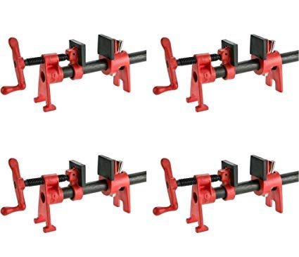 4 Pack Bessey BPC-H12 1//2-Inch H Style Pipe Clamps