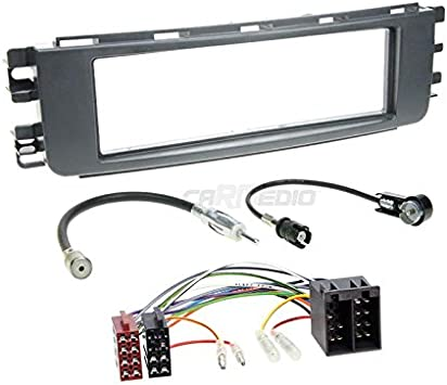 Kenwood Autoradio für Smart ForFour 454 2-DIN Bluetooth//USB//VarioColor Einbauset
