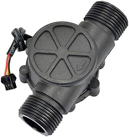 ACAMPTAR 1Pcs Sensor de Flujo de gua DN25 DC3.5-24V 1 Pulgada 2-100L / Min Medidor de Flujo Hall Bomba de Calor Calentador de gua Medidor de Flujo Contador Del Interruptor