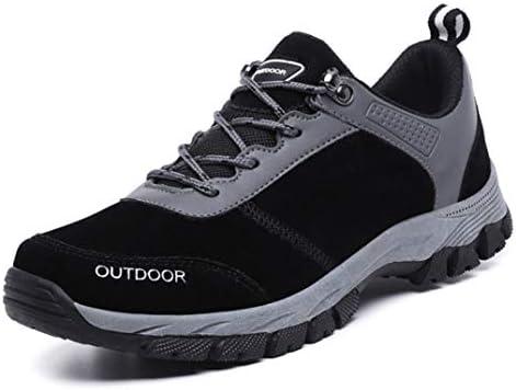 ウォーキングシューズ ハイキングシューズ メンズ ローカット 防滑 幅広 レースアップ スニーカー靴 トレッキングシューズ ブラック 登山靴 耐摩耗性 歩きやすい アウトドア キャンプ スポーツ 25.0cm クライミングシューズ
