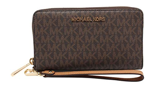 Michael Kors Women's Jet Set Travel Multifunction Phone Case No Size (Brown Acorn)