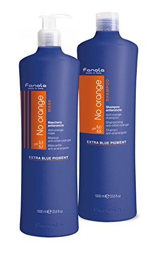 (Fanola No Orange Shampoo & Mask, 1000 ml)