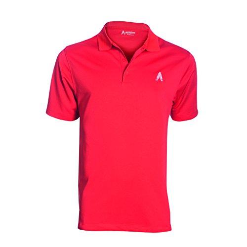 Royal & Awesome Men's Polo - Camiseta polo para hombre Rojo