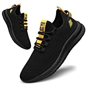 CAIQDM Mens Running Shoes Gym Athletic Fashion Sneakers Lightweight Fitness Walking Tennis Sport Shoes Outdoor Casual…
