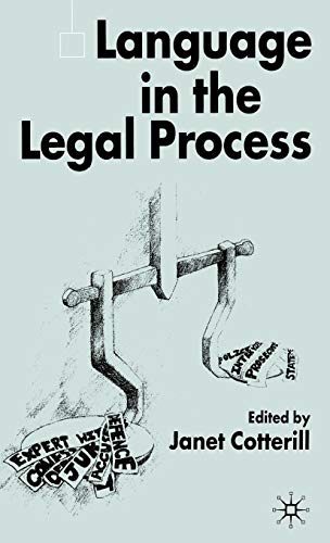 Language in the Legal Process by Palgrave Macmillan
