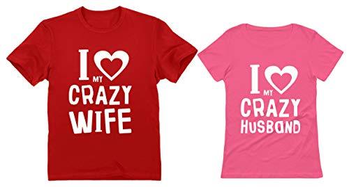 Funny Husband & Wife Couples Gift Anniversary/Newlywed Matching Set T-Shirts