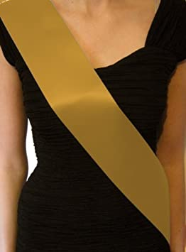 Black CHEAP BASIC PLAIN BLANK SASHES SATIN RIBBON 10CM WIDE 160CM LONG MAKE YOUR OWN