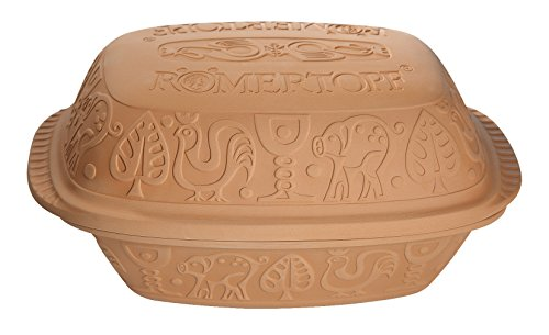 (Romertopf by Reston Lloyd Classic Series Glazed Natural Clay Cooker,)