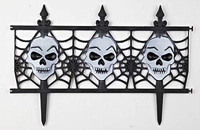 Decorative Halloween Skull Garden Fence - Set of 8