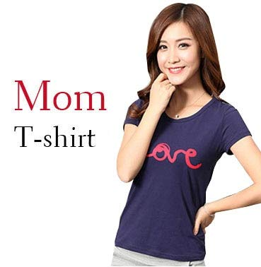 1904b627f9e3 2019 Summer Family Matching Outfits Mother and Daughter Clothes Family Look  Printed Love Father Son T-Shirt and Pant Clothing   Mom T Shirt