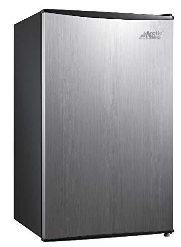 Arctic King 3.3 Cu Ft Single Door Mini Fridge (Stainless Steel Look, 17.70 x 18.60 x 33.90 Inches)