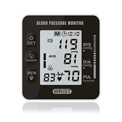 Digital Blood Pressure Monitor Germany Chip Automatic Wrist Digital Blood Pressure Monitor Tonometer Meter for Measuring and Pulse Rate