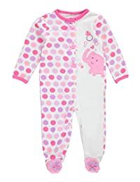 "Weeplay Baby Girls' ""Elephant Bubbles"" Footed Coverall"