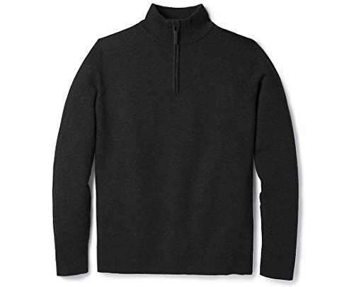 (SmartWool Men's Sparwood 1/2 Zip Sweater Charcoal Heather Medium)
